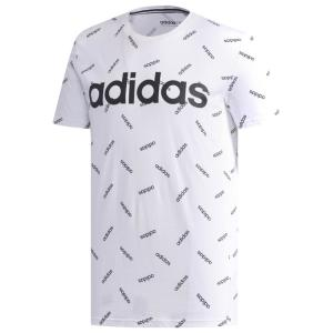 アディダス adidas Athletics メンズ Tシャツ トップス AOP Short Sleeve T-Shirt White/Black|fermart