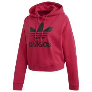 アディダス adidas Originals レディース パーカー トップス Leoflage Cropped Hoodie Pride Pink/Black|fermart