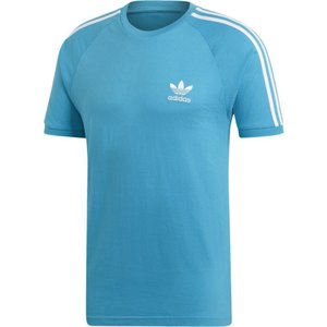 アディダス adidas Originals メンズ Tシャツ トップス California T-Shirt Shock Cyan/White|fermart