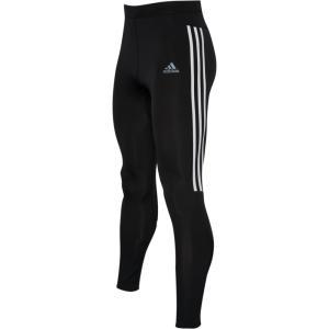 アディダス adidas メンズ ランニング・ウォーキング タイツ・スパッツ ボトムス・パンツ Run It 3 Stripe Tights Black/White|fermart