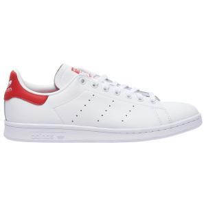 アディダス adidas Originals メンズ テニス スタンスミス シューズ・靴 Stan Smith White/White/Lush Red|fermart