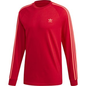 アディダス adidas Originals メンズ 長袖Tシャツ トップス California Long Sleeve T-Shirt Scarlet|fermart