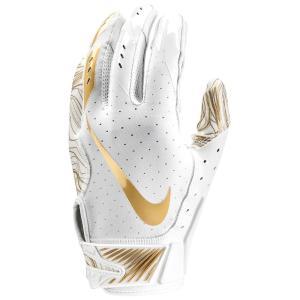 ナイキ メンズ グローブ アメリカンフットボール Vapor Jet 5.0 Football Gloves White/White/Metallic Gold|fermart