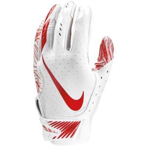 ナイキ メンズ グローブ アメリカンフットボール Vapor Jet 5.0 Football Gloves White/White/University Red|fermart