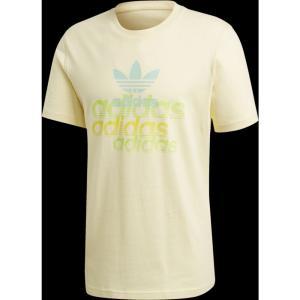 アディダス adidas Originals メンズ Tシャツ トップス shattered trefoil logo t-shirt Easy Yellow|fermart