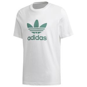 アディダス adidas Originals メンズ Tシャツ トップス Trefoil T-Shirt White/Future Hydro|fermart