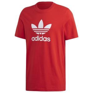 アディダス adidas Originals メンズ Tシャツ トップス Trefoil T-Shirt Lush Red/White|fermart