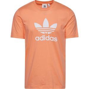 アディダス adidas Originals メンズ Tシャツ トップス Trefoil T-Shirt Chalk Coral|fermart