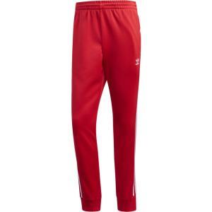 アディダス adidas Originals メンズ スウェット・ジャージ ボトムス・パンツ superstar track pants Lush Red/White fermart