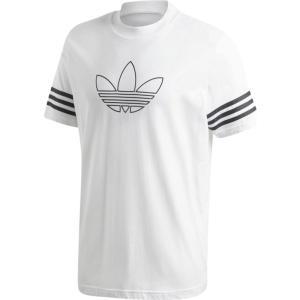 アディダス adidas Originals メンズ Tシャツ トップス outline trefoil s/s t-shirt White|fermart