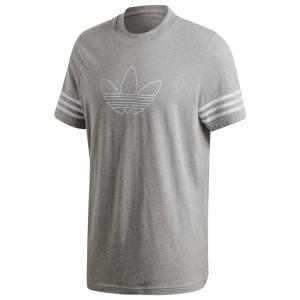 アディダス adidas Originals メンズ Tシャツ トップス Outline Trefoil S/S T-Shirt Mgh|fermart