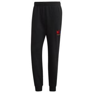 アディダス adidas Originals メンズ スウェット・ジャージ ボトムス・パンツ 3D Trefoil Sweatpants Black/Black|fermart
