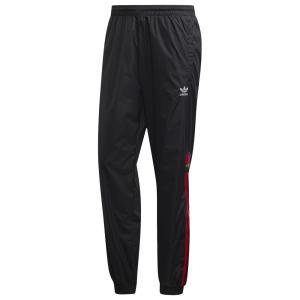 アディダス adidas Originals メンズ スウェット・ジャージ ボトムス・パンツ 3D Trefoil Track Pants Black/Red fermart