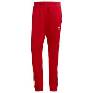 アディダス adidas Originals メンズ スウェット・ジャージ ボトムス・パンツ superstar track pants Scarlet/White fermart