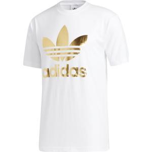 アディダス adidas Originals メンズ Tシャツ トップス Trefoil T-Shirt White/Gold|fermart