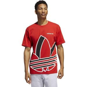 アディダス adidas Originals メンズ Tシャツ トップス Big Trefoil S/S T-Shirt Red/White/Black|fermart