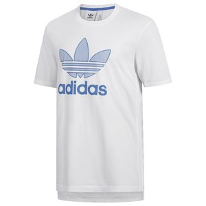 アディダス adidas Originals メンズ Tシャツ トップス Warm Up Trefoil T-Shirt White/Blue|fermart