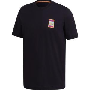 アディダス adidas Originals メンズ Tシャツ トップス adiplore graphic t-shirt Black/Yellow|fermart