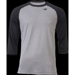 ニューバランス New Balance メンズ トップス 野球 3/4 Raglan Shirt Team Black|fermart