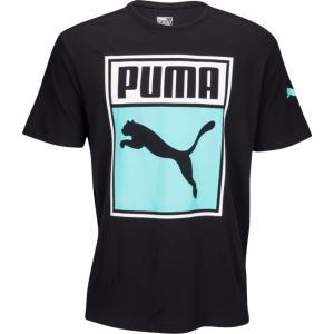 プーマ メンズ Tシャツ トップス Graphic T-Shirt Black/White/Blue|fermart