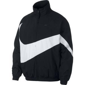 ナイキ Nike メンズ ジャケット ウィンドブレーカー アウター large swoosh windbreaker Black/White|fermart