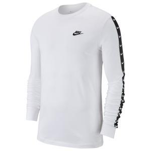 ナイキ Nike メンズ 長袖Tシャツ トップス swoosh long sleeve t-shirt White/Black|fermart