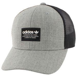 【残り1点!】【サイズ:OneSize】アディダス Adidas Beach メンズ 帽子 キャップ adidas Originals Trefoil Trucker Cap Heather Grey/Black|fermart