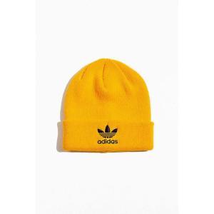 アディダス adidas メンズ ニット ビーニー 帽子 originals trefoil logo beanie Gold fermart
