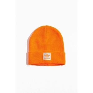 アディダス adidas メンズ ニット ビーニー 帽子 originals trefoil logo beanie Orange fermart