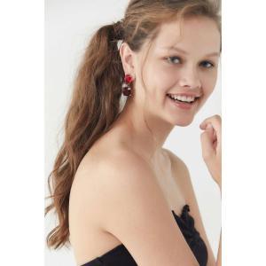 アーバンアウトフィッターズ Urban Outfitters レディース イヤリング・ピアス ジュエリー・アクセサリー Ruby Stone Drop Earring Red|fermart