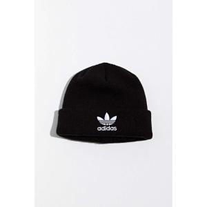 アディダス adidas メンズ ニット ビーニー 帽子 originals trefoil logo beanie Black|fermart