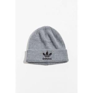 アディダス adidas メンズ ニット ビーニー 帽子 originals trefoil logo beanie Light Grey|fermart