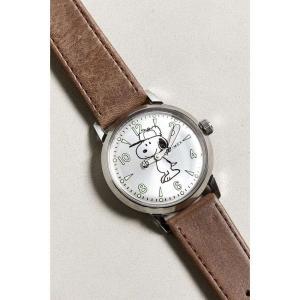 タイメックス Timex メンズ 腕時計 Welton Snoopy Watch Brown fermart