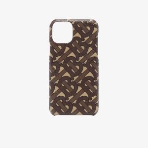 バーバリー Burberry メンズ iPhoneケース brown Rufus Monogram print iPhone 11 Case brown|fermart