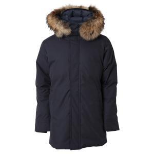 【即納】ピレネックス Pyrenex メンズ ダウン・中綿ジャケット アウター Annecy Fur Down Jkt Hmo019 AMIRAL アヌシー フーデッド ダウンコート|fermart