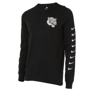 【即納】ナイキ NIKE メンズ 長袖Tシャツ トップス GRAPHIC LONG SLEEVE T-SHIRT Black/White|fermart