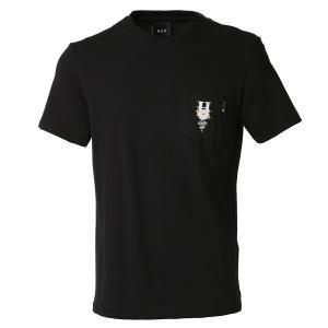 【即納】ハフ HUF メンズ Tシャツ トップス Central Park S/S Pocket Tee BLACK 半袖 クルーネック ポケット|fermart