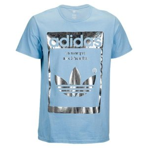 【即納】アディダス adidas Originals メンズ Tシャツ トップス Graphic T-Shirt Clear Blue/Silver|fermart