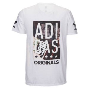 【即納】アディダス adidas Originals メンズ Tシャツ トップス Graphic T-Shirt White/Black Ink|fermart