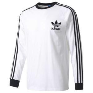 【即納】アディダス メンズ 長袖Tシャツ トップス California Long Sleeve T-Shirt White/Black|fermart