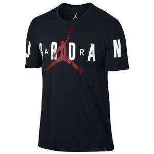 【即納】ナイキ ジョーダン Jordan メンズ Tシャツ トップス Stretch T-Shirt Black/Gym Red|fermart