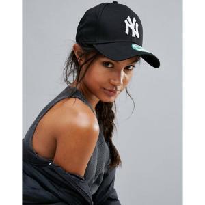 【即納】ニューエラ New Era レディース キャップ 帽子 Black NY 9Forty Cap Black|fermart