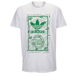 【即納】アディダス adidas Originals メンズ Tシャツ トップス Graphic T-Shirt White/Green|fermart