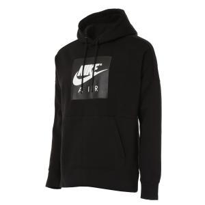 【即納】ナイキ NIKE メンズ パーカー トップス Air Fleece Pullover Hoodie Black/Black/Black|fermart