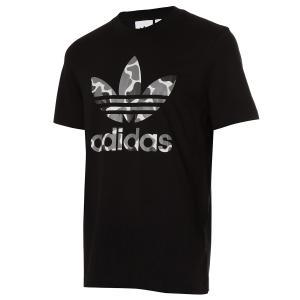【即納】アディダス adidas Originals メンズ Tシャツ トップス adidas Originals Camo Trefoil T-Shirt Black|fermart