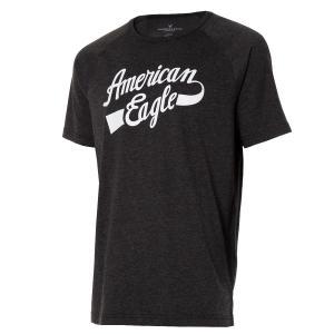 【即納】アメリカンイーグル American Eagle メンズ Tシャツ トップス AE GRAPHIC T-SHIRT Black|fermart