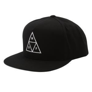 【即納】ハフ HUF ユニセックス キャップ 帽子 Essentials Tt Snapback Hat BLACK トリプルトライアングル スナップバック|fermart