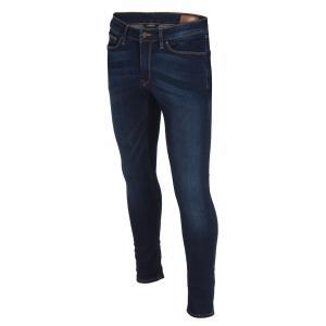【即納】エイソス ASOS メンズ ジーンズ・デニム ボトムス・パンツ Extreme Super Skinny Jeans In Dark Wash Dark blue|fermart