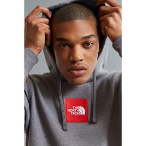 【即納】ザ ノースフェイス The North Face メンズ パーカー トップス Embroidered Box Logo Hoodie Sweatshirt Grey|fermart