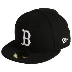 【即納】ニューエラ New Era メンズ キャップ 帽子 MLB BASIC 59Fifty BOSRED BLACK/WHITE|fermart